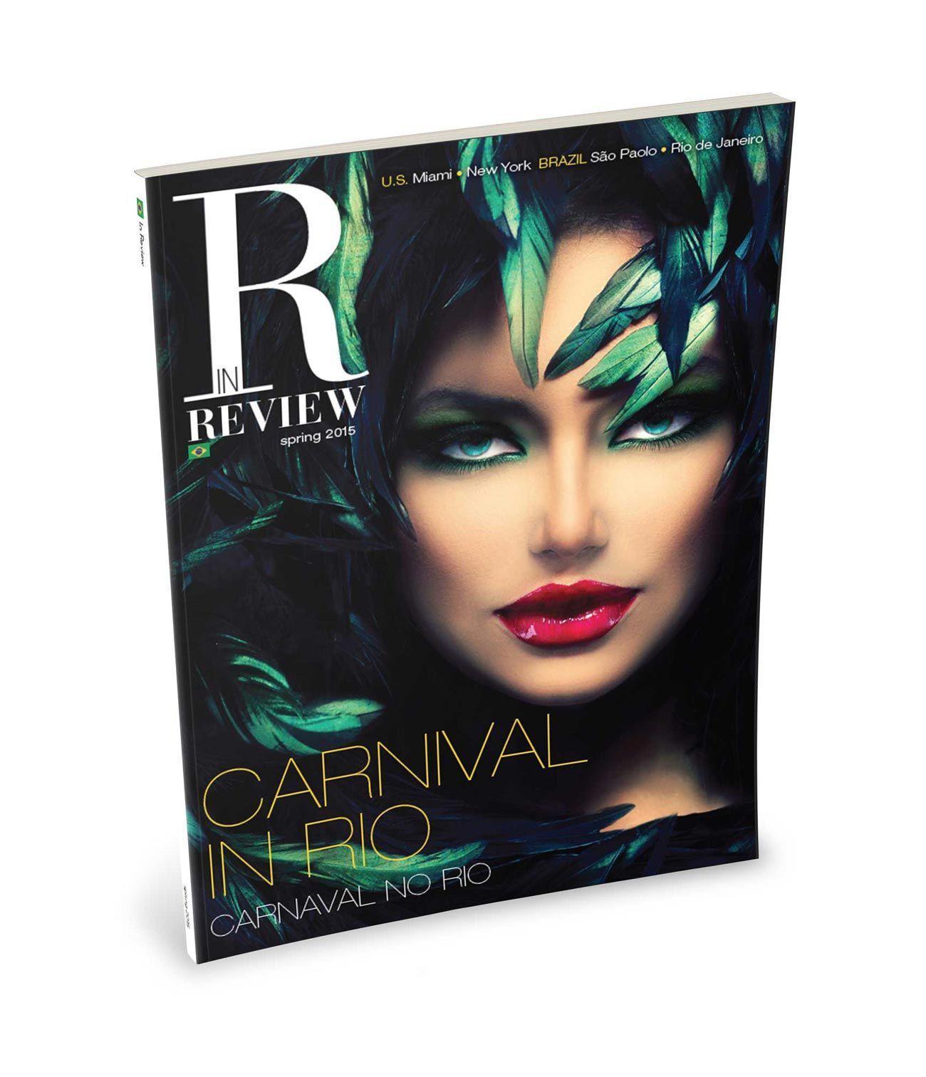 In Review diseño portada revista