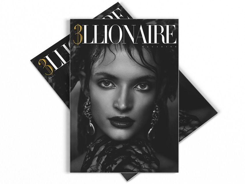 Trillionaire Magazine diseño de portada