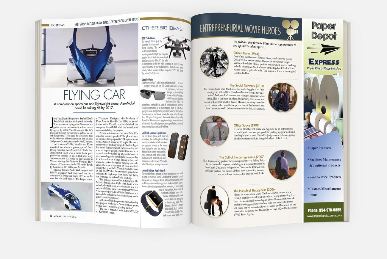 Diseño de Revista de Negocios