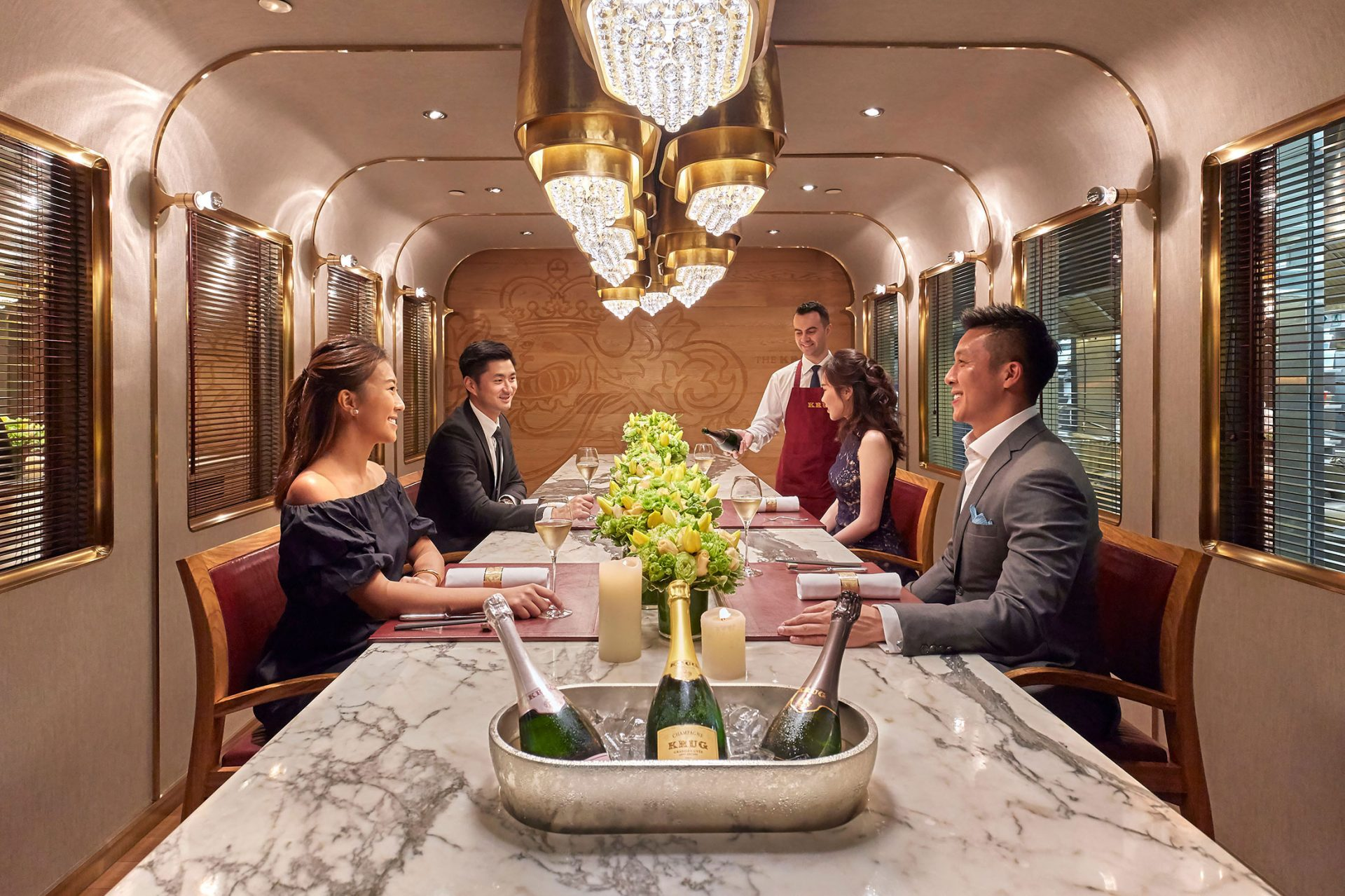 MAndarin Oriental Hong Kong Krug Bar Couples having dinner