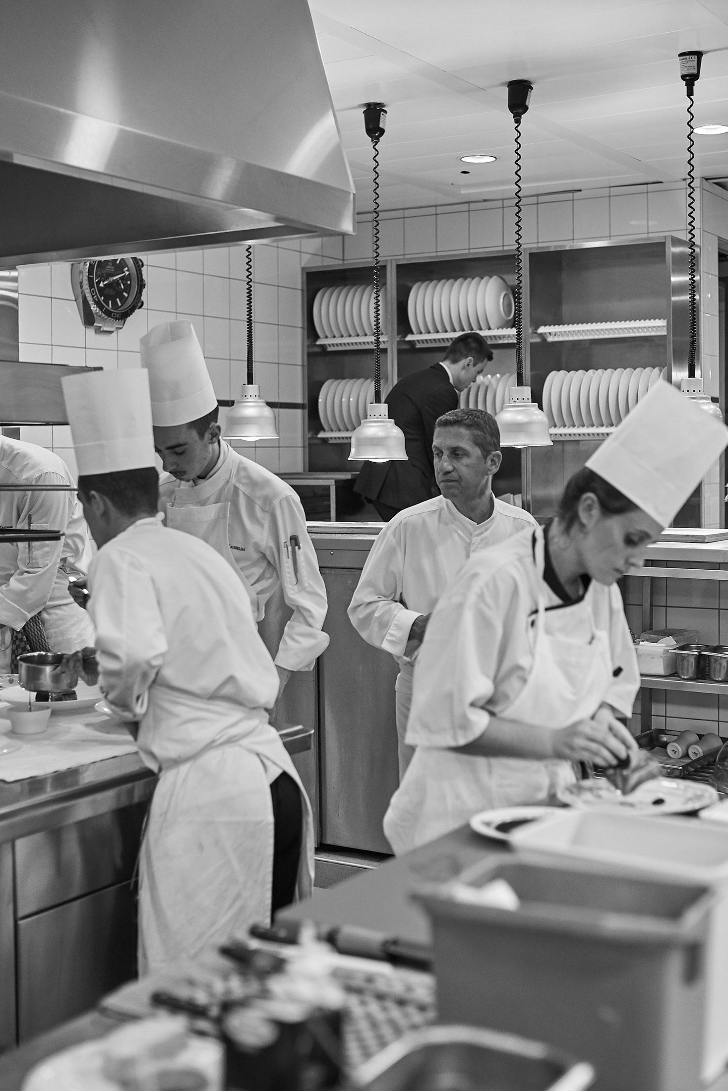 Inside chef Dominique Gauthier's kitchen Beau-Rivage Genève hotel