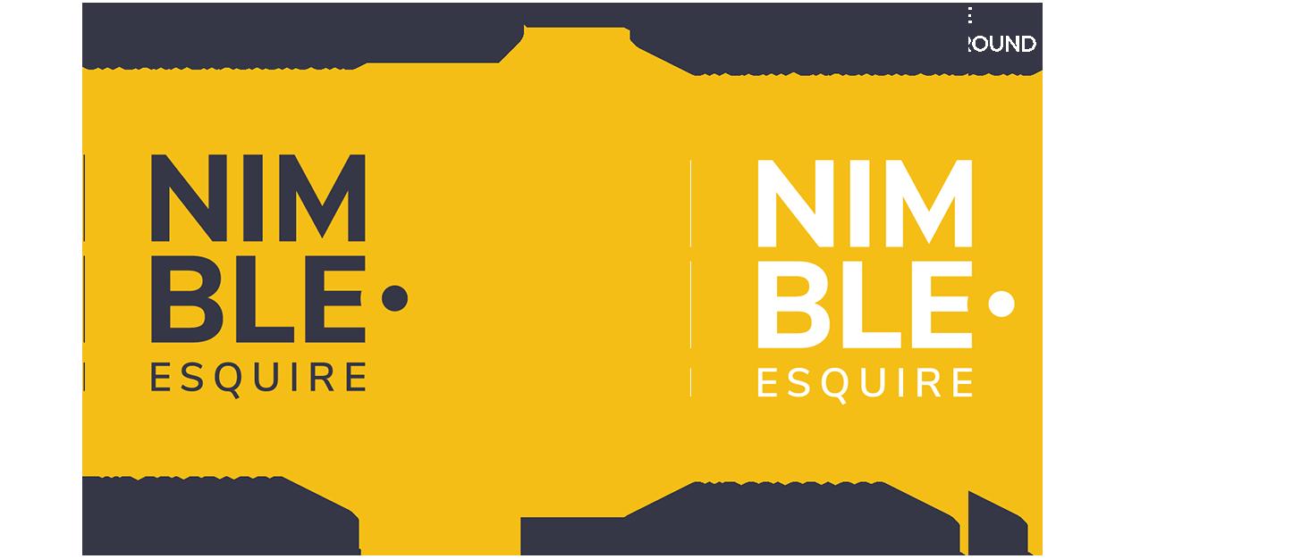 nimble logo design
