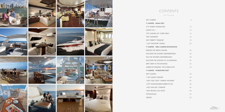 Brochure Charter Yachts Design